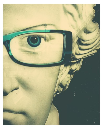 Herrenbrille - Reklame eines Optikers in Friedrichshafen