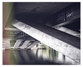 Brückenkonstruktion über die Fulda