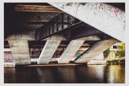 Brückenstatik über die Fulda.