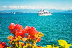Friedrichshafen - Anfahrt auf den Hafen
