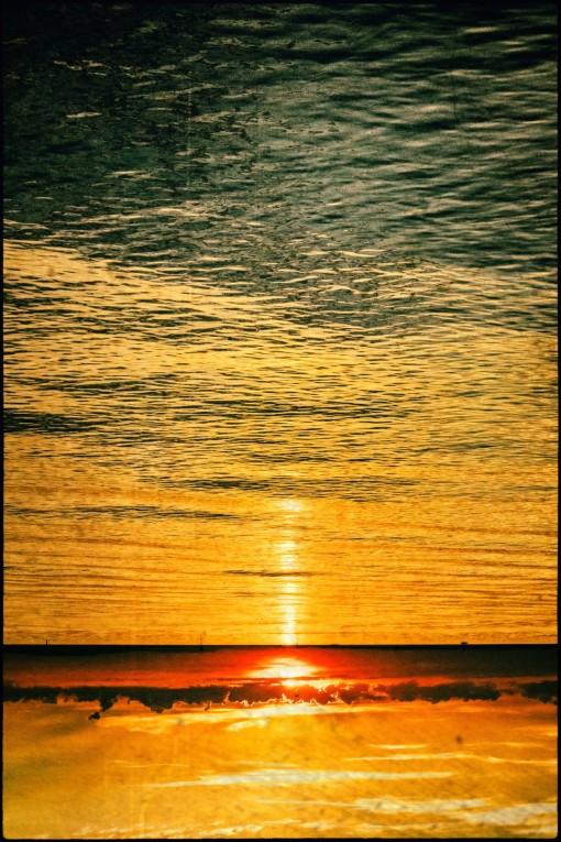 Der Sonnenuntergang auf dem Kopf.....