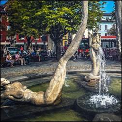 Brunnen in Überlingen - von Peter Lenk