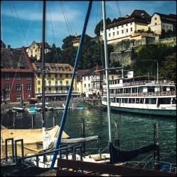 Der Hafen von Meersburg