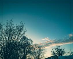 Der Himmel über dem See bei Nussdorf