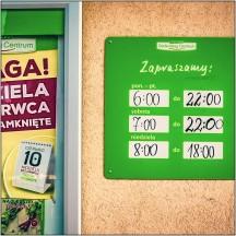 Öffnungszeiten in Polen (von kleineren Supermärkten)
