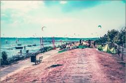 Kite-Surfen auf Halbinsel Hel