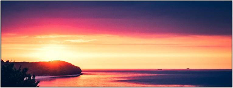 Sonnenuntergang Stellplatz Alexa nahe der Halbinsel Hel