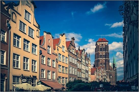 Schöne Häuserfassade in Danzig