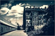 Wohnhäuser direkt an der Werft