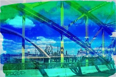 Ein Blick auf Kräne des Danziger Hafens