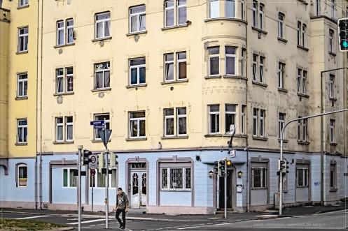 """Kassel; Gartenstr. - Ecke Ysenburgstr. / Gaststätte """"Zur Anstalt"""""""