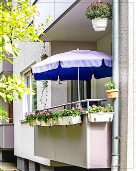 Kassel; Gartenstr. Idylle auf dem Balkon