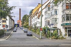 Kassel; Weserstr./Ecke Magazinstr. plus Schornstein