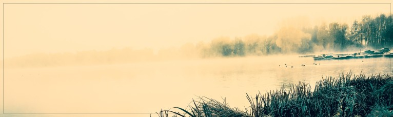 Northeimer See mit Morgennebel