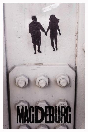 Grafitti auf der Sternbrücke