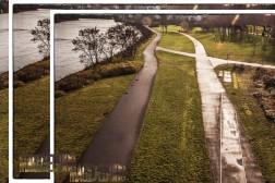 Wege unterhalb der Sternbrücke (Photomontage)