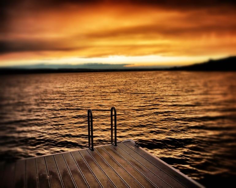 "Sonnenuntergang am ""Süßer See"""