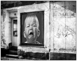 Leeres Geschäft / Photomontage