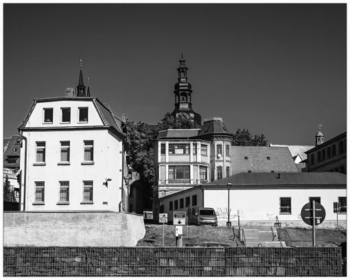 Turmspitze der Andreas-Kirche