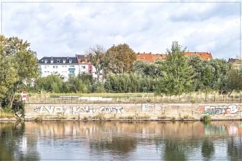 Kassel; Aussicht vom Spielplatz Unterneustadt