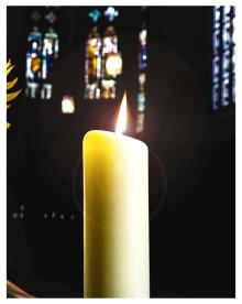 Kerze zur Besinnung