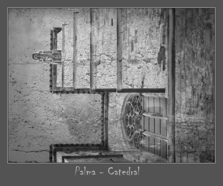Kathedrale - was besonders: Foto mit Betonwand reinkopiert