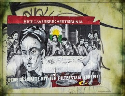 Plakat auf dem Kazplatz