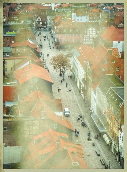 Blick von der Jacobikirche (Turm) auf die Weender Str.