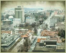 Blick von der Jacobikirche (Turm) - Richtung Idunahochhäuser