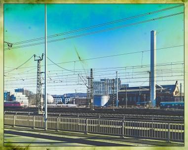 Blick von der Brücke Bahnhofsallee