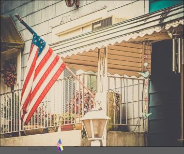 ..die amerikanische Flagge....