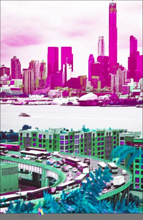 ...alles überragende Aussicht von Union City auf Manhattan...