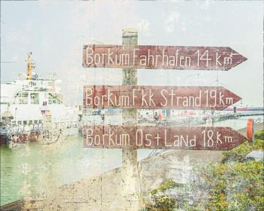 Hafengebiet Eemshaven / Fährverkehr nach Borkum